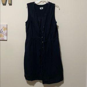 Old Navy waist-defined button up dress